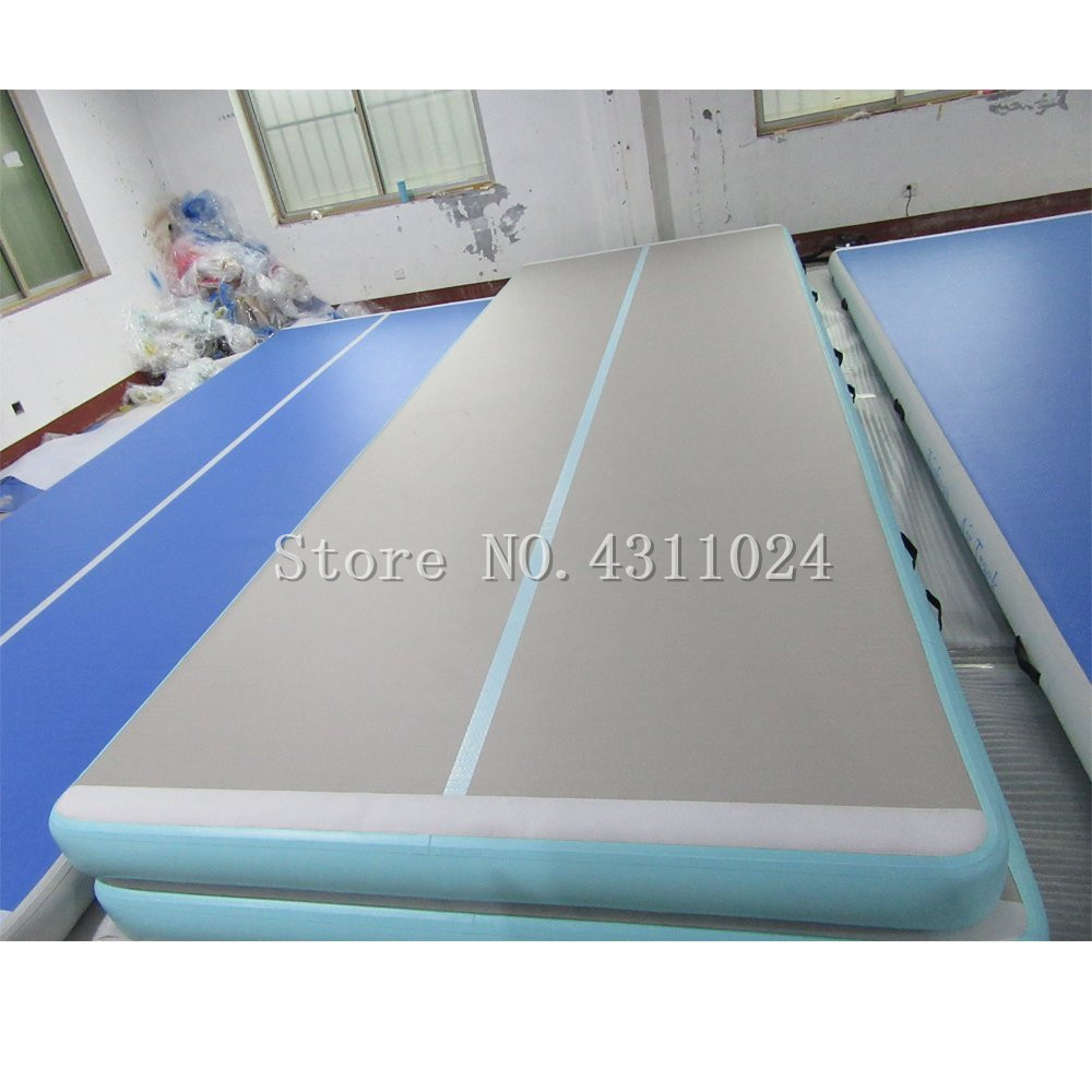 Free Shipping Airtrack 4m Length of 10cm Height Air Track,Inflatable Air Floor Inflatable Mat For Gymnastic Free One Pump