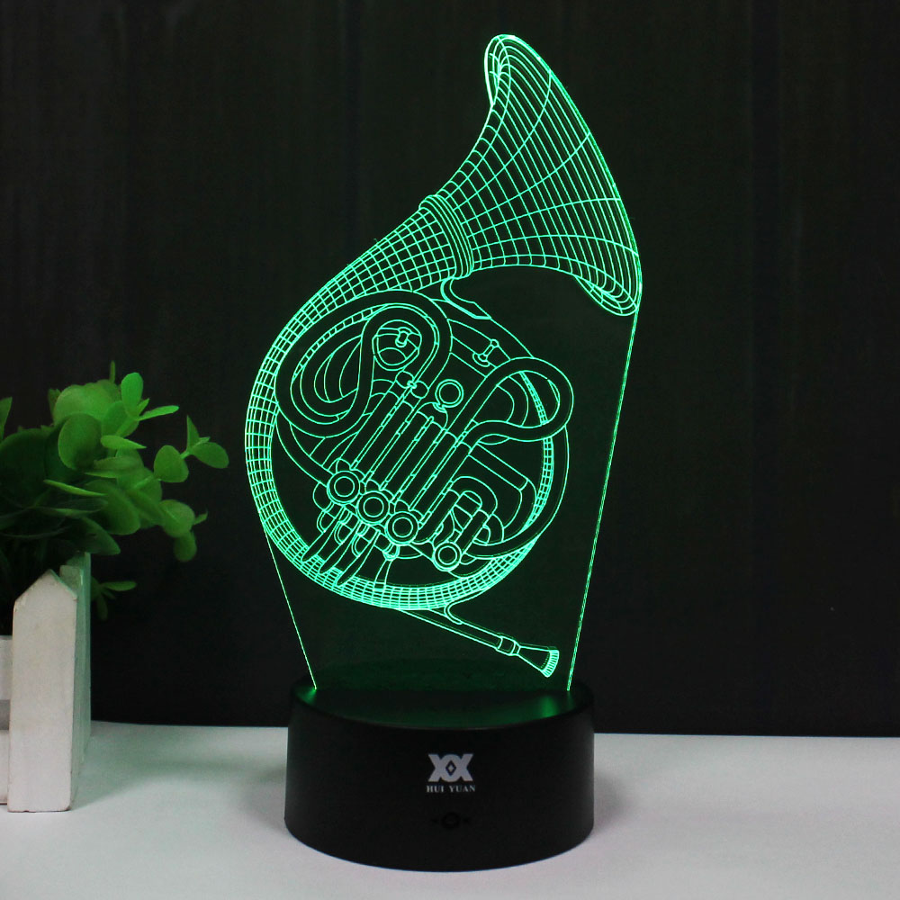 Saxophone 3D Lamp Musical instruments LED Remote Control Night Light - Night Lights - Photo 2