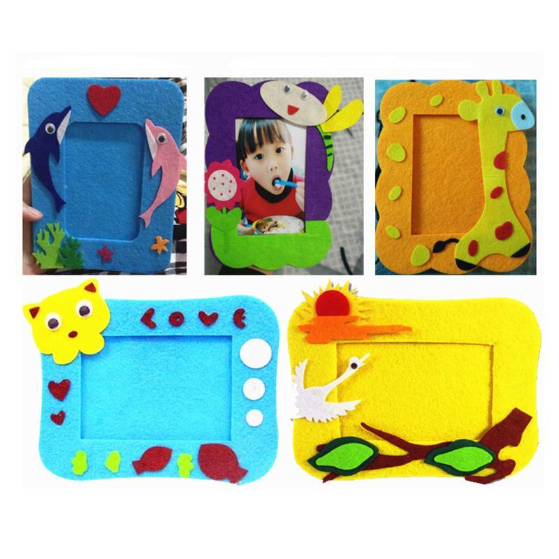 Toys & Hobbies Puzzles & Games Kids Diy 3d Cartoon Photo Frame Decor Children Handmade Eva Cloth Sticker Child Handwork Craft Toy Parent-child Interaction Toys