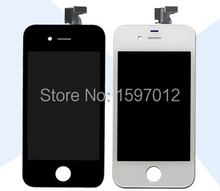 10 pcs New For Iphone 4 4s Lcd Display Screen+Touch Glass Digitizer Assembly Replacement screen white/black  free shipping