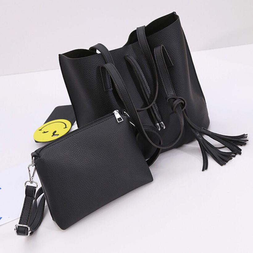 Women Leather bags handbags women famous brands Tassels Handbag Tote Purse Messenger Shoulder Bag+Crossbody Bag 2016 gift