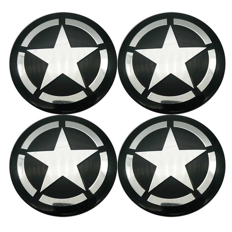 4 шт. автомобильный Стайлинг 56,5 мм пентаграмма логотип Автомобильная Ступица колеса наклейки Ступица крышки с эмблемами для Ford FIAT Audi BMW Nissan honda