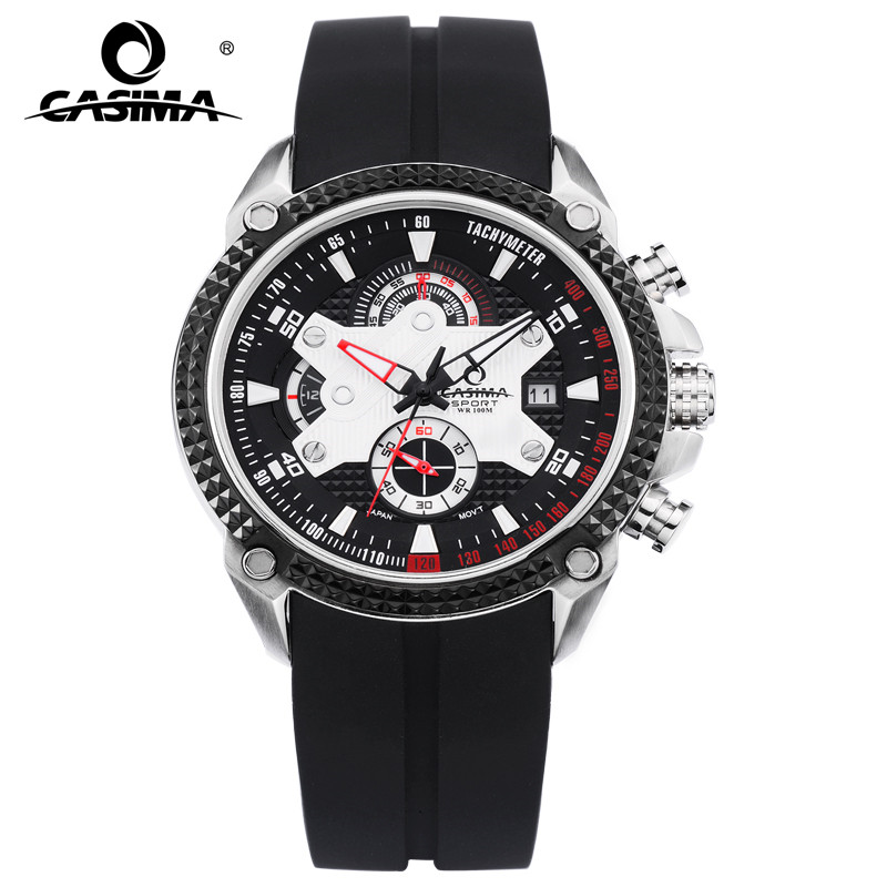 Luxury Brand Watches Men Sport Fashion Elegant Table Men's Quartz Watch Silicone Strap Luminous Waterproof 100m CASIMA #8207 casima st 8207 s8