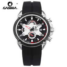 CASIMA watches male fashion waterproof luminous male table quartz movement Multi-function men's watch все цены