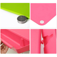 2 in 1 Foldable Chopping Board Non slip Cutting Mat Camping Antibacteria Kitchen Supplies Best Price