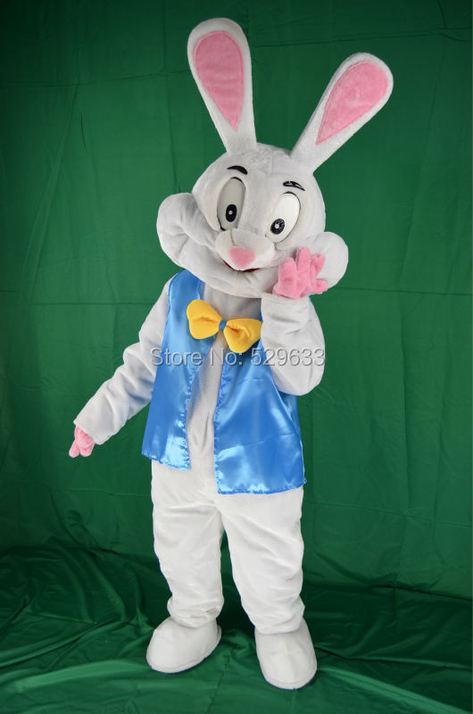 2017 Easter Bunny Mascot Costume Fancy Funny Animals Dress Adult Size