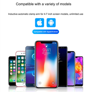 Image 5 - 10W Qi Car Wireless Charger For Xiaomi MIX 2S Mi 9 iPhone X Samsung S9 Fast Wirless Charging Car Automatic Clamping Phone Holder