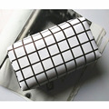 Fashion White Plaid Women Makeup Clutch Pouch Multifunction Men Storage Bag Casual  for Laptop Power Phone Mouse