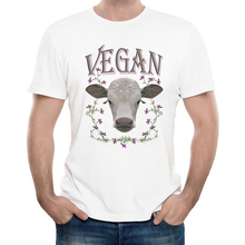 """VEGAN"" cow design men t-shirt"