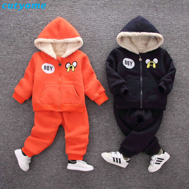 Baby Clothing Set Hooded Coat+Pants Toddler Girl Boy Clothing Chidren Clothes Kids Winter Clothes Down Coat Boys Set Outfits