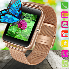 LIGE New Bluetooth Smart phone Watch Men Sport Pedometer Fashion Stainless Steel Support SIM TF Card Camera Android