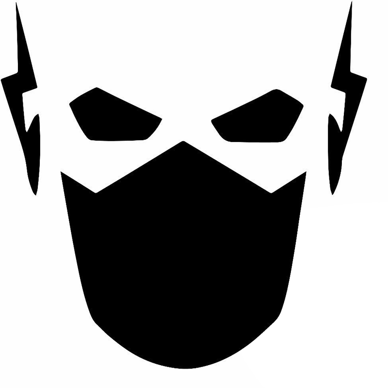 Hotmeini wholesale50pcs lot funny masked robot closely observed flash face car sticker for truck bumper door vinyl decal 9 color in car stickers from