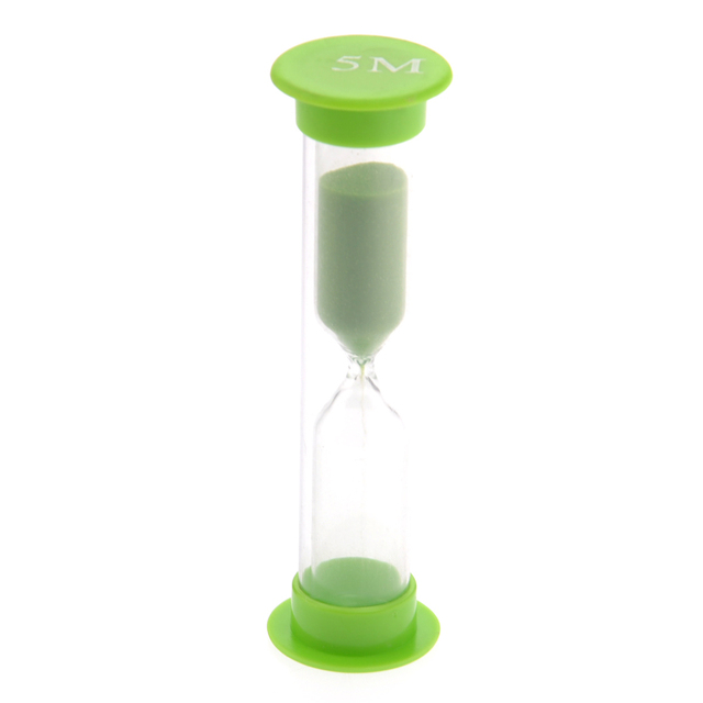 5pcs 30second/1minute /3minutes /5minutes /10minutes Colorful Hourglass Sandglass Sand Clock Timers (Random Color)