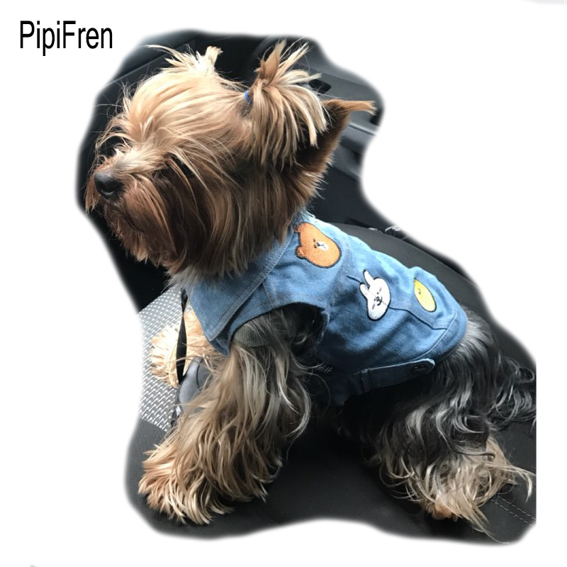 PipiFren Dogs Cats Clothes T Shirts Vests French Bulldog Yorkshire For Pug Dog Pet Colorful Bulldogs Manteau chien ropa de perro