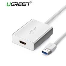 Ugreen USB HDMI VGA Adapter DVI zewnętrzna przejściówka do wyświetlacza USB do HDMI męski na żeński złącze projektora konwerter USB HDMI
