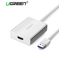 Ugreen USB HDMI VGA DVI Adapter External USB to HDMI Multi Display Adapter Male to Female Projector Connector Converter USB HDMI