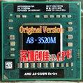 original AMD Laptop CPU A8 3520M A8-3520m Socket FS1 CPU 4M Cache/1.6GHz/Quad-Core Notebook processor 3500m