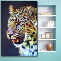 Fashion Oil Painting Animal Leopard Portrait Canvas Painting For Living Room Home Decor Oil Painting On