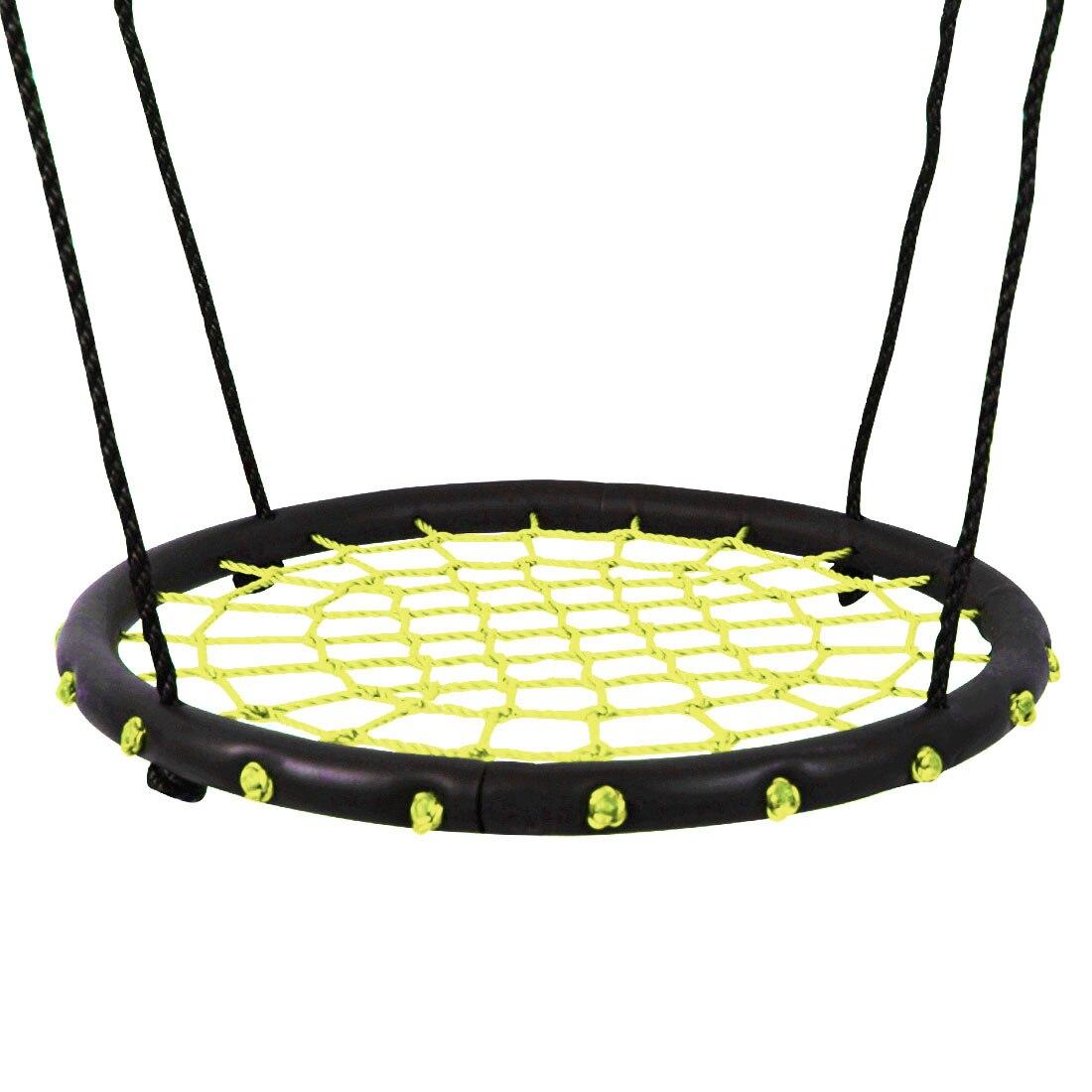 Enfants nid rond balançoire intérieur et extérieur cintre enfants Net corde Stout balançoire bébé jouets portant 200Kg diamètre 60 cm - 4