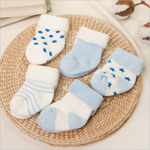 baby socks infant winter cotton socks baby girl boy Anti-Slip socks 0-2 years toddle newborns short socks 5 pairs/lot