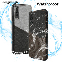 Canvas stitching phone case for Huawei P10 magnetic adsorption mobile phone case with card slot all inclusive mobile phone case