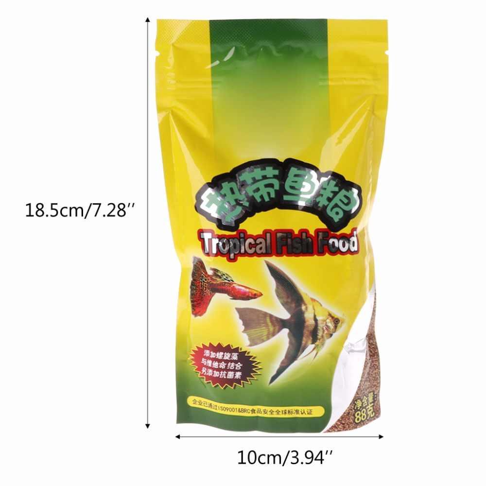 Akvaryum tankı tropikal balık yemi küçük balık yemi tahıl
