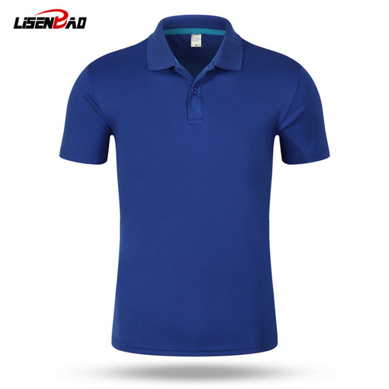 2018 top Men   Polo   Shirt Men 's Business Casual solid   polo   Summer Style   Polos   Short Sleeve Solid Shirt Blouse