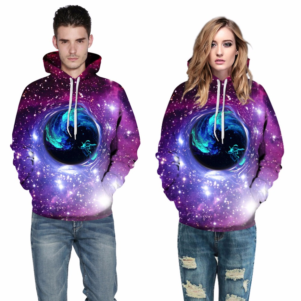 Mr.1991INC Europe America Hot Star Sky black hole Casual Sweatshirts Men Hooded Hoodies Men Pullovers hoodie Sweatshirt M136