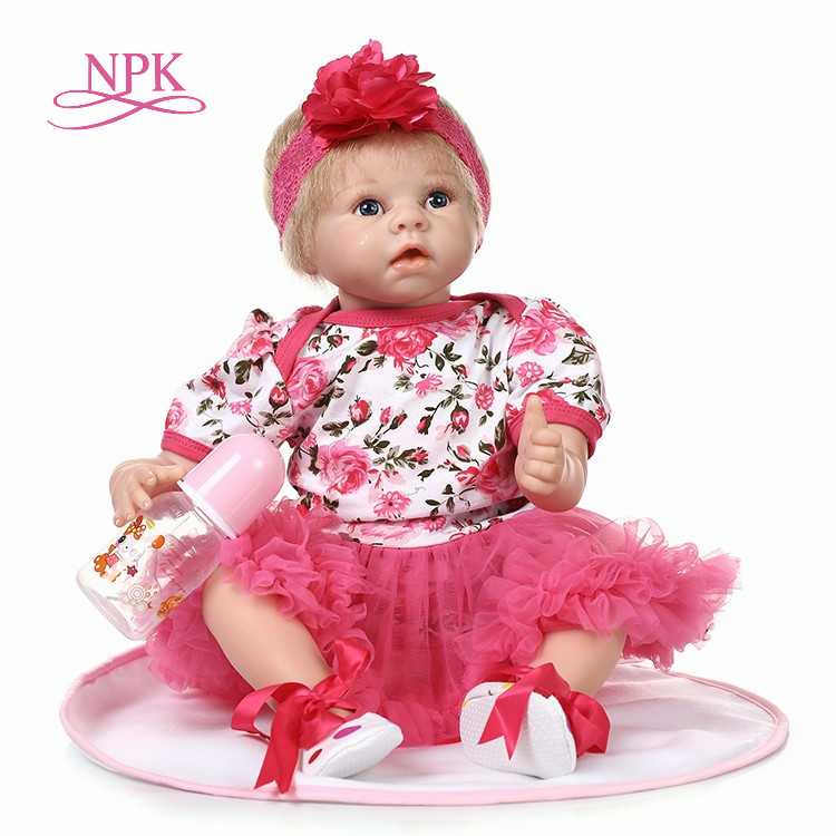NPK 22 reborn Baby Doll Princess Girl Dolls soft body Silicone Babies Girls Lifelike real born