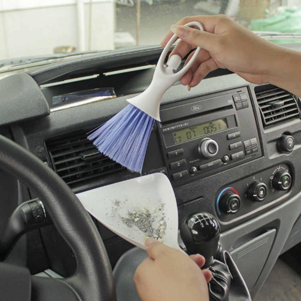 אביזרי רכב לוח המחוונים מקלדת סיאט Outlet Vent מברשת אבק ניקוי כלים רכב ניקוי מברשות