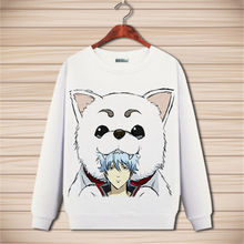 2017 New Clothing Made Anime Gintama Cartoon Long Sleeved Sweater With Cashmere Clothes Thick Winter Clothing Of Male and Female