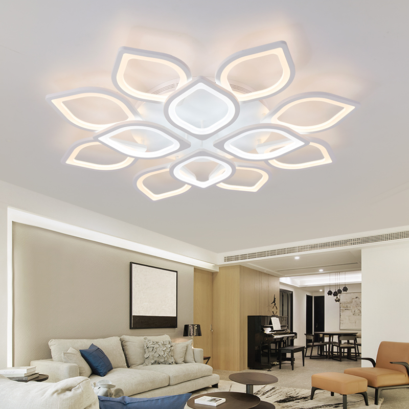 Acrylic Flush LED Ceiling Lights White Light Frame Home Decorative ...