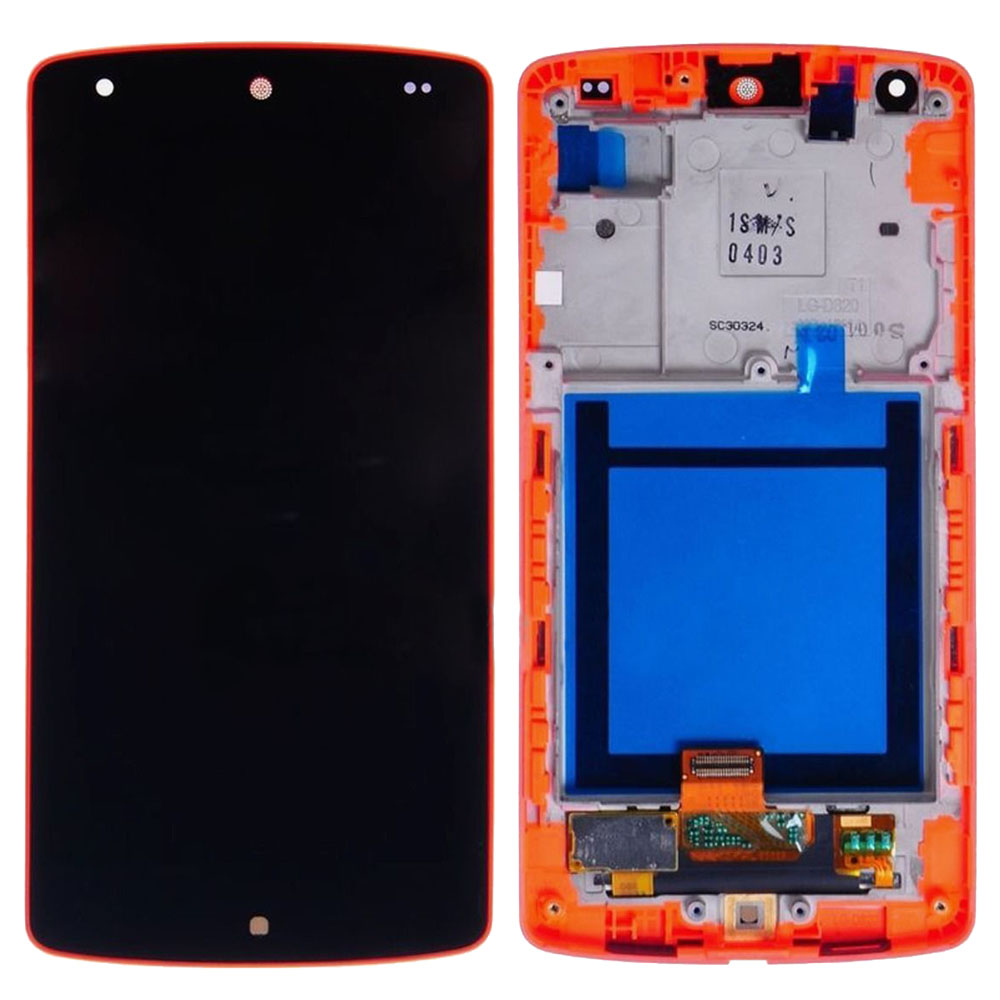 A++ New LCD Display Touch Screen Digitizer Glass Lens Red Frame Assembly For LG Google Nexus 5 D820 High quality tracking number