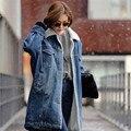 TIC-TEC mujeres chaqueta abrigo denim Fleece cálido algodón del otoño invierno de la manera ocasional de Down Parkas abrigos P2734 ucrania