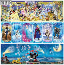 Diamond Painting Cartoon Mickey Mouse Panorama Pattern Embroidery Full Square Mosaic Artwork 20x60cm