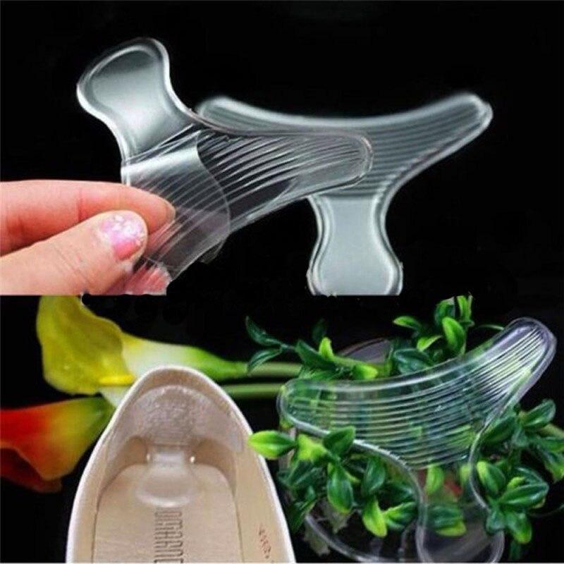 1 Para Weiche Silikon Zurück Schuh Hohe Ferse Liner T-form Einlegesohle Anti-reibung Kissen Gel Pads Einlegesohle Hohe Dance Schuhe Griffe Einlagen & Kissen Schuhe