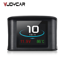 Vjoycar P10 автомобильной бортовой компьютер Автомобильный цифровой OBD вождения компьютер Дисплей Спидометр Хладагент Температура датчик