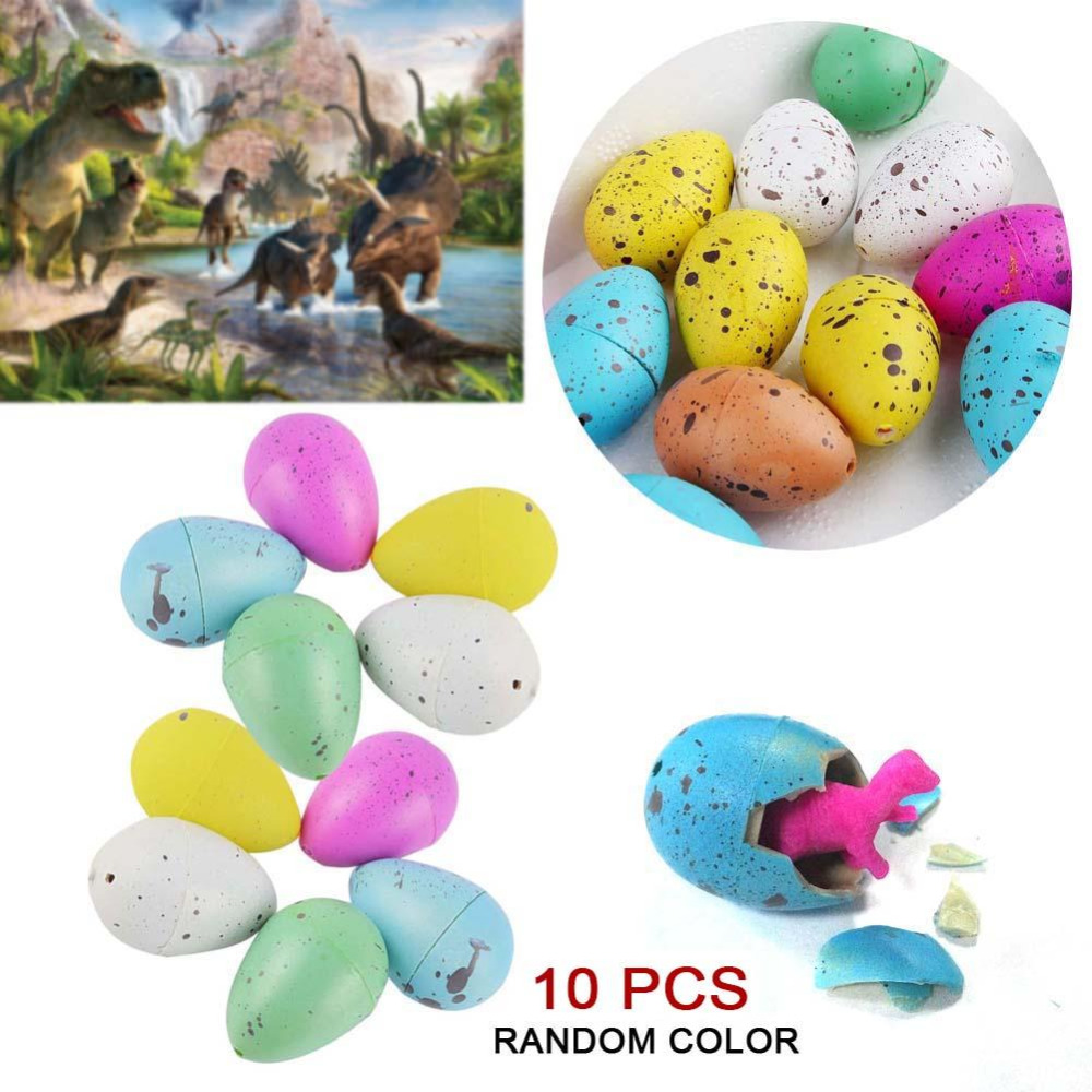 10 Pcs/Pack Magic Hatching Inflation Add Water Growing Dinosaur Eggs Practical Joke Toy For Kids Educational Novelty Gag Toys
