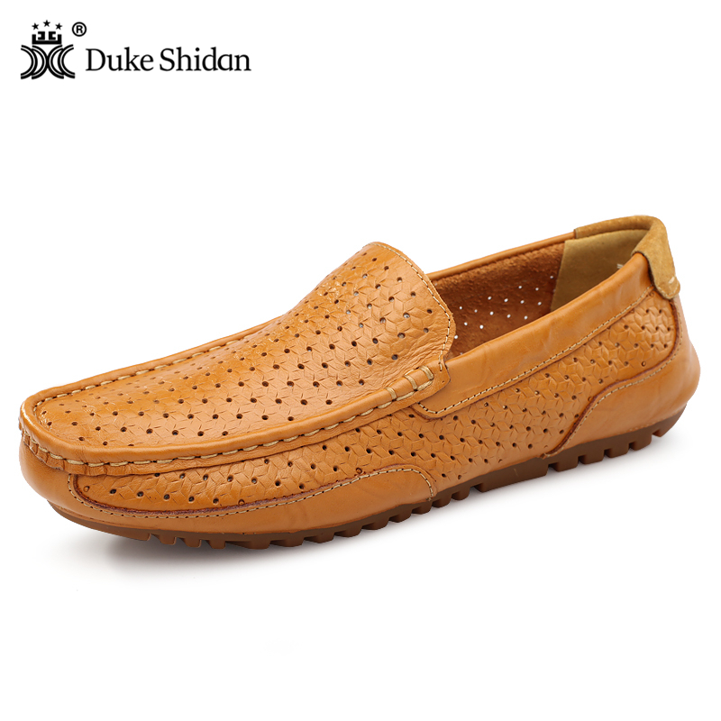 New Men Loafers 2017 Casual Boat Shoes Fashion Genuine Leather Slip On Driving Shoes Moccasins Hollow Out Men Flats Gommino 2017 new fashion summer spring men driving shoes loafers real leather boat shoes breathable male casual flats
