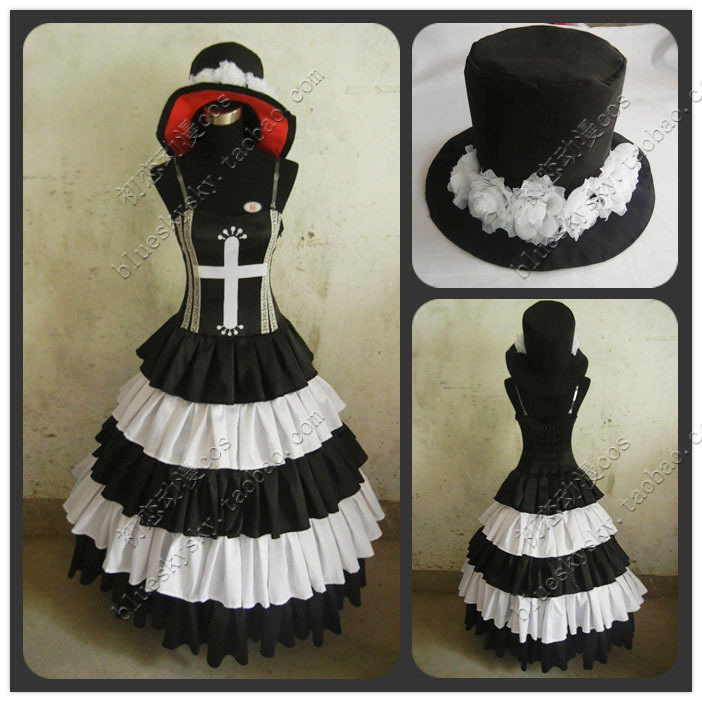 Free shipping ONE PIECE Perona anime Cosplay Costume Custom Any Size for women/men