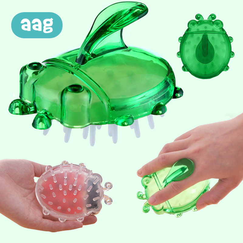 AAG Silicone Shampoo Brush For Baby Adults Soft Cleansing Massage Bath Shower Wipe Pad Child 10
