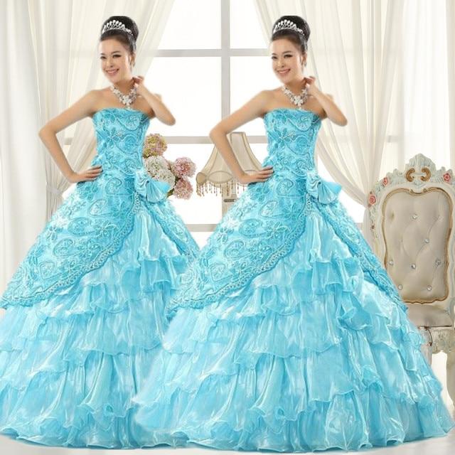Puff Tee Dress colored wedding dress big swing solo fall to the ...