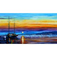 Hand painted landscape oil pictures canvas large wall painting sunset over eternity pop art for living room decor