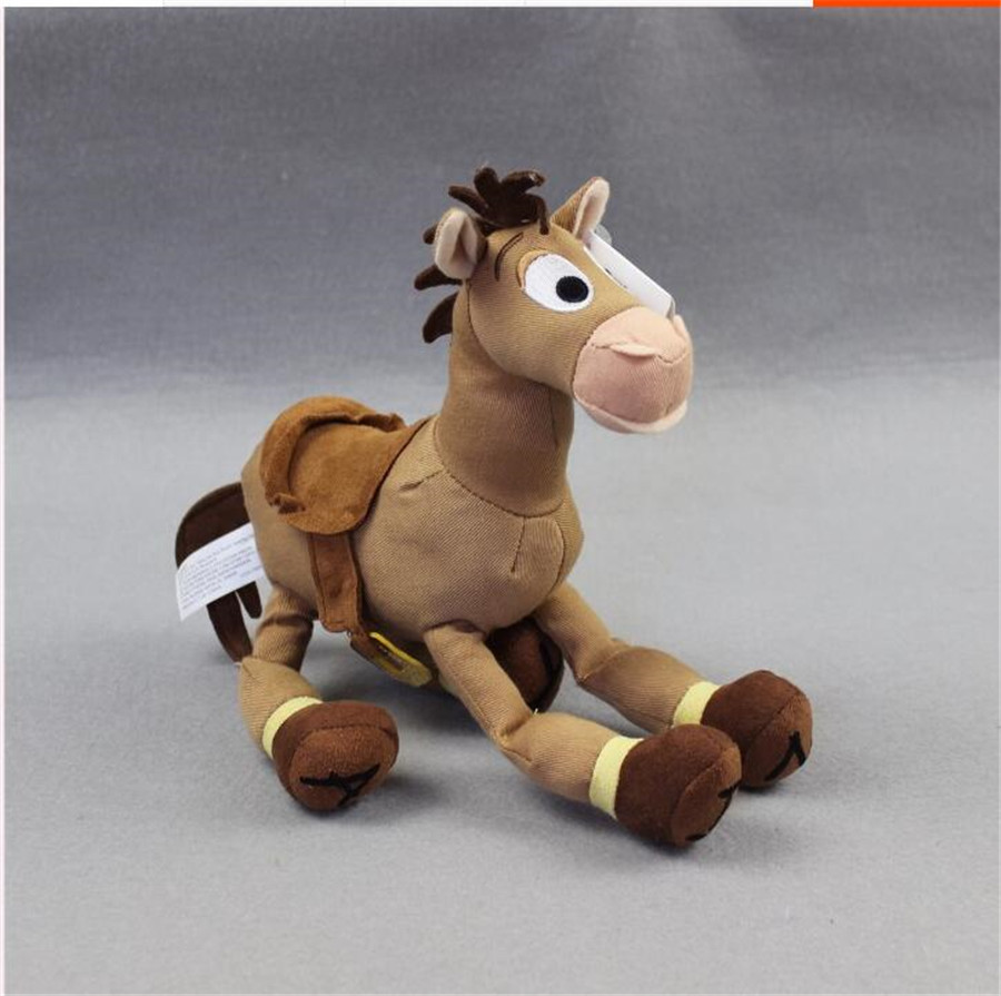1pcs 25cm=9inch Original Toy Story Plush Bullseye The Horse Cute Doll For Children's Gift Kids Plush Toys baby toys classic animation hercules baby pegasus plush white horse toys 33cm pelucia plush toys for children kids toys gift