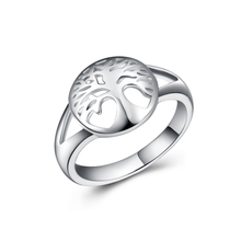 Silver 925 Ring Diamond Rings Jessica Lucky tree fashion personality Ancient beaded luxury rose gold nickles womenB2110
