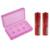 1 pçs/set 18650 Apontado Bateria Recarregável Li-ion Para 2*6800 mah 18650 Li-ion Battery + 2*18650 Único Slot Carregador Com 70 cm