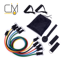 COREMATE 11pcs Resistance Bands Set Workout Fitness Equipment Crossfit Pull Rope Pilates Latex Home Gym Yoga Rubber Loops Band