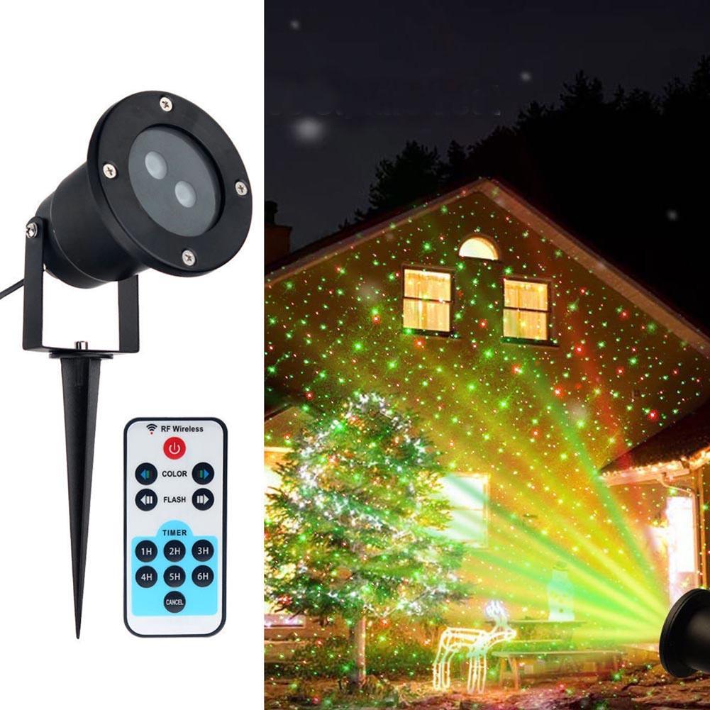 12V 5W EU/AU/UK/US Plug Outdoor Moving Spotlight Garden Waterproof Christmas Stage LED Laser Landscape Lighting Lamp--M25