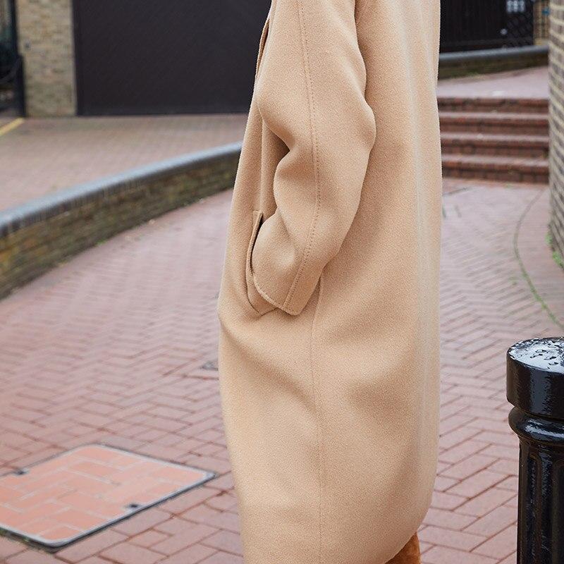 Vero Moda Women's new 100% wool double-sided single buckle minimalist woolen overcoat | 318327505 22