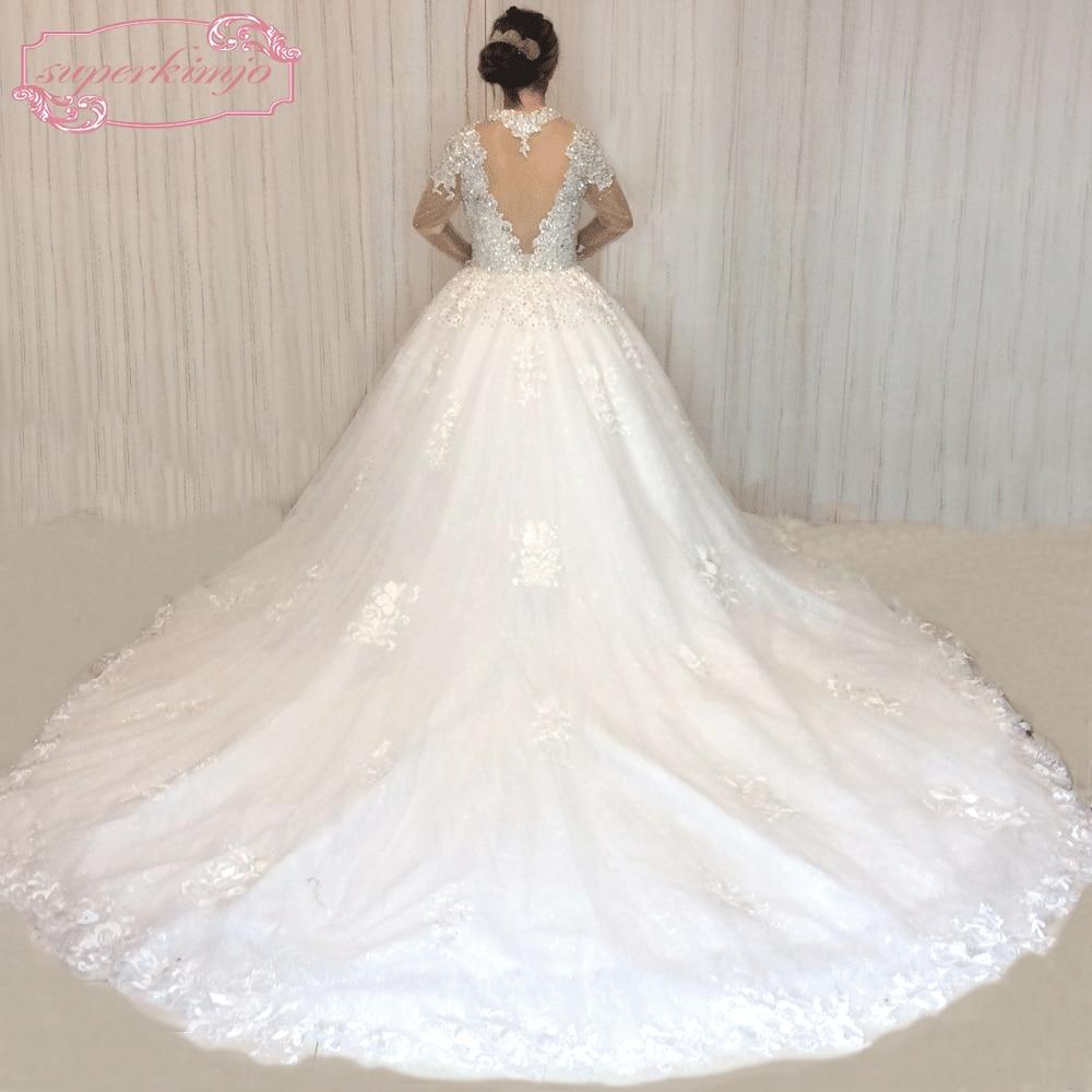 SuperKimJo Vestido De Noiva 2018 Real Photo kristallen trouwjurken - Trouwjurken - Foto 2